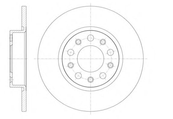 Тормозной диск  арт. 6142600