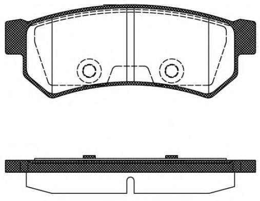 Колодка торм. CHEVROLET LACETTI задн. (пр-во REMSA)                                                   арт. 104810