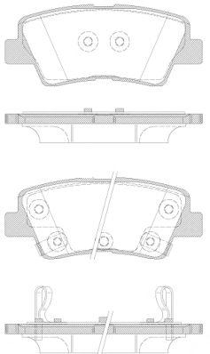 Колодка торм. HYUNDAI I40 1.6-2.0 2011-,KIA RIO III 2011- задн. (пр-во REMSA)                         арт. 136242