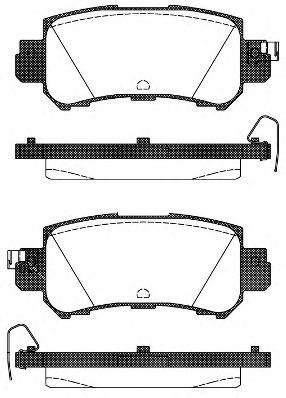 Гальмівні колодки дискові зад. Mazda Cx-5 2.0/2.2D/2.5 11.11- REMSA 150700