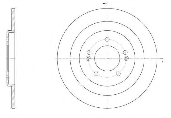 Тормозной диск  арт. 6143700