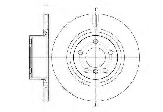Диск тормозной BMW X3(F25) 2010- задн. (пр-во REMSA)                                                  арт. 6145510