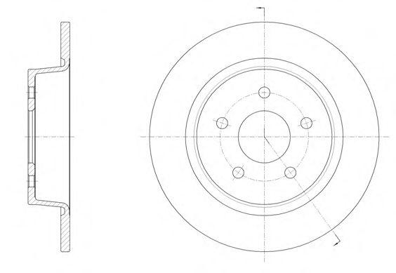 Диск тормозной FORD C-MAX II 1.6 2.0 2010- задн. (пр-во REMSA)                                        арт. 6145900