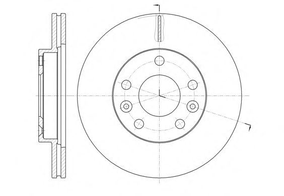 Диск тормозной RENAULT DUSTER 1.6 16V 2.0 2012-  передн. (пр-во REMSA)                                арт. 6147810