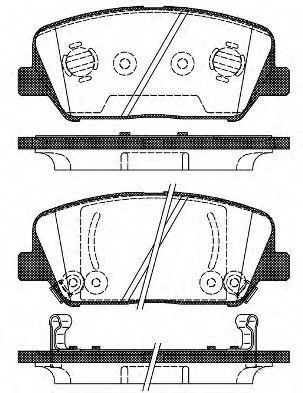 Колодка торм. HYUNDAI GENESIS Coupe (01/08-) передн.  (пр-во REMSA)                                   арт. 139802