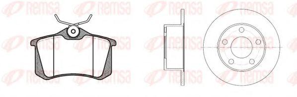 Комплект тормозной задн. AUDI 100, AUDI A6 95-, SKODA SUPERB 02-,VW PASSAT 96- (пр-во REMSA)         TRW арт. 826300