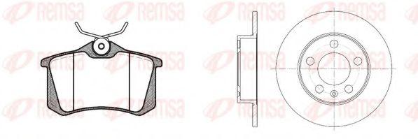 Комплект тормозной задн. SEAT TOLEDO 02- ,SKODA FABIA. OCTAVIA 97- , GOLF 97- (пр-во REMSA)          TRW арт. 826301