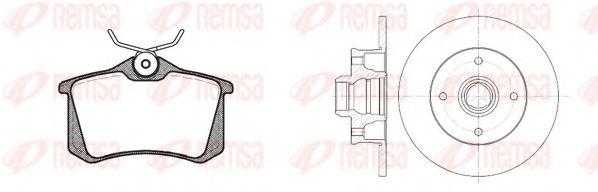 Комплект тормозной задн. SEAT CORDOBA, TOLEDO 01/91-10/99,VW GOLF 08/91-09/97 (пр-во REMSA)          TRW арт. 826302