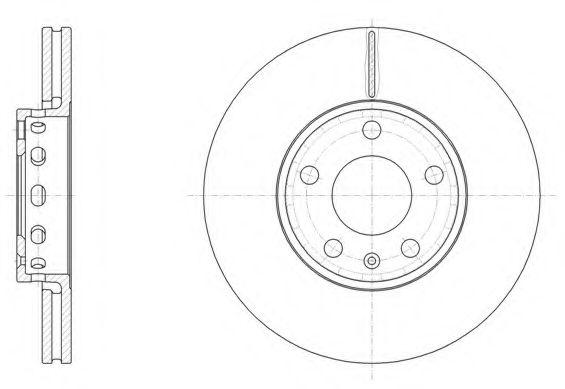 Диск тормозной AUDI 100,A4, SKODA SUPERB,VW PASSAT, вент. (пр-во REMSA)                              REMSA 632810