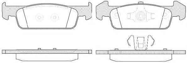 Колодка торм. DACIA LOGAN II 1.2 1.5 2012-,SANDERO 2012- передн. (пр-во REMSA)                       REMSA арт. 154010