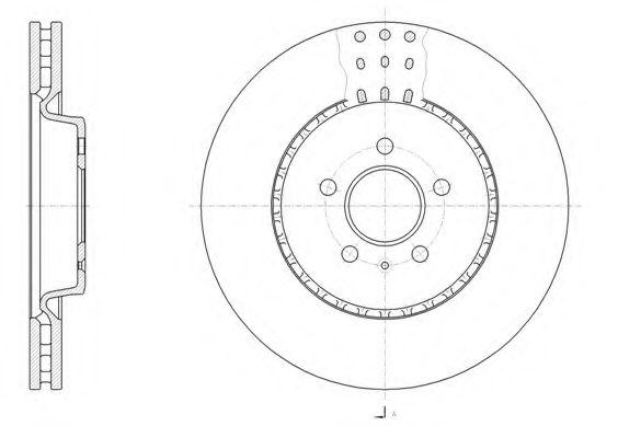 Диск тормозной AUDI A4 1.8 2.0 07-,A5 2.0-3.0 09-,A6 2010- передн. (пр-во REMSA)                     REMSA 6149310