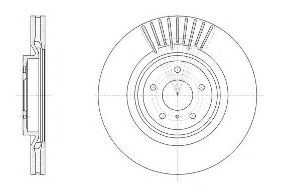 Диск тормозной INFINITI FX (01/03-) передн. (пр-во REMSA)                                             арт. 6150810