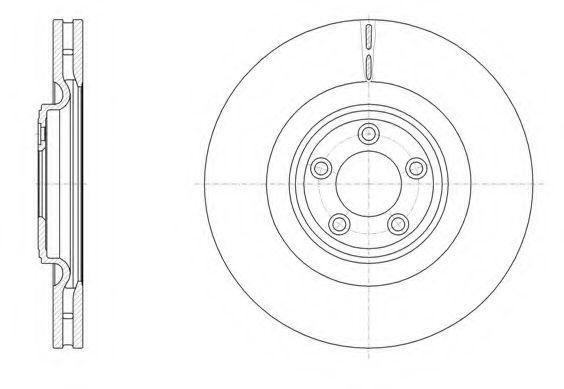 Диск тормозной JAGUAR XF XJ XK 3.0D-5.0 V8 08- передн. (пр-во REMSA)                                  арт. 6151110