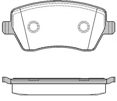 Колодка торм. NISSAN MICRA (K12), NOTE (E11) передн. (пр-во REMSA)                                    арт. 098700