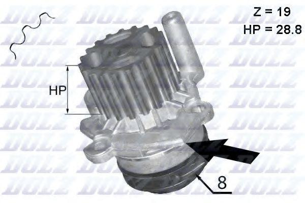 (!!!див. параметри) Водяна помпа VAG A1/A3/Altea/Fabia/Octavia/Polo/Golf VI/Caddy III 1.2Tdi/1.4Tfsi/1.6Tdi/2.0Tdi 05.09- DOLZ A224