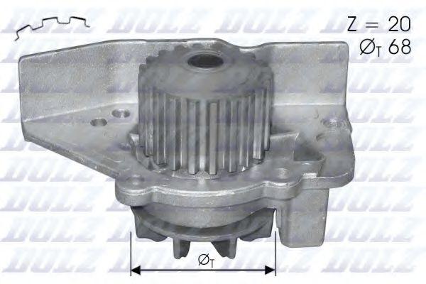 Водяна помпа Peugeot 406/605 Citroen Xantia/XM 2,0 motXU10J4R DOLZ C118