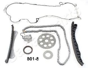 JAPANPARTS FIAT К-кт цепи привода распредвала Doblo 1.3 1.3d, Opel Combo, Citroen Nemo JAPANPARTS KDK8018