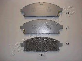 Тормозные колодки дисковые  арт. PA154AF