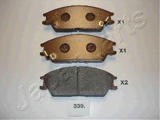 Комплект тормозных колодок, дисковый тормоз  арт. PA339AF
