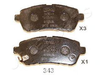 Тормозные колодки дисковые  арт. PA343AF