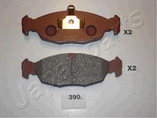 Тормозные колодки дисковые  арт. PA390AF