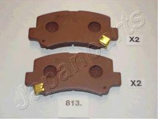 Комплект тормозных колодок, дисковый тормоз  арт. PA813AF