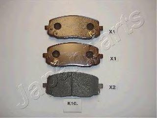 Комплект тормозных колодок, дисковый тормоз  арт. PAK10AF