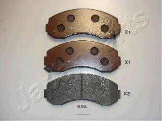 JAPANPARTS KIA Тормозные колодки пер. K2500 2,5D 03-, K2700 2,7D 99- JAPANPARTS PAK18AF