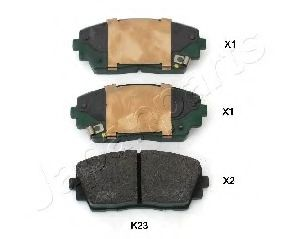 JAPANPARTS KIA Тормозные колодки передн. Picanto 1,0 11- JAPANPARTS PAK23AF