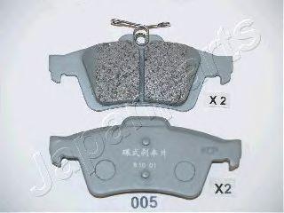 JAPANPARTS FORD Тормозные колодки диск.задн.(с электронным стоян.тормозом) Focus II,Mazda 3,Vectra C,Citroen C5 III 08-,Peugeot,Renault JAPANPARTS PP005AF