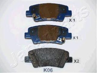Комплект тормозных колодок, дисковый тормоз  арт. PPK06AF