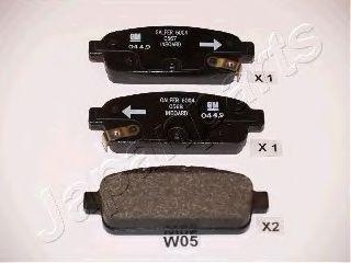 Тормозные колодки дисковые  арт. PPW05AF