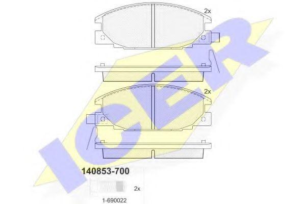 Комплект тормозных колодок, дисковый тормоз  арт. 140853700
