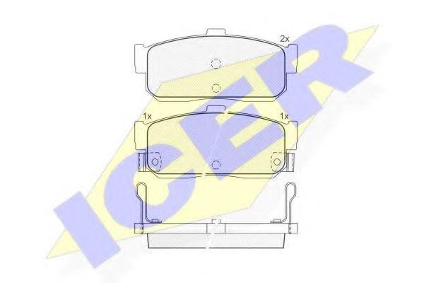Комплект тормозных колодок, дисковый тормоз  арт. 140915