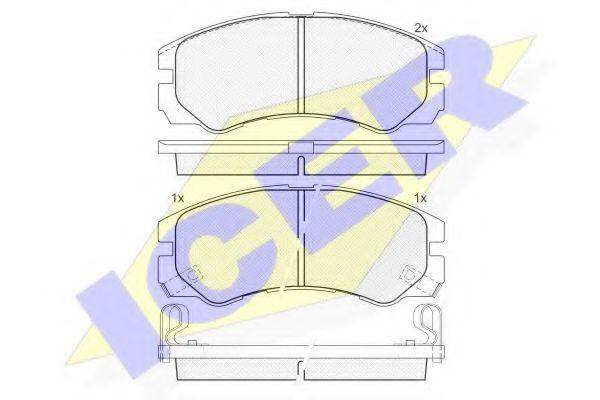 Комплект тормозных колодок, дисковый тормоз  арт. 140990