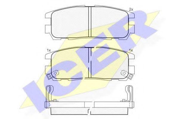 Комплект тормозных колодок, дисковый тормоз  арт. 140991