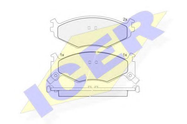 Комплект тормозных колодок, дисковый тормоз  арт. 141056