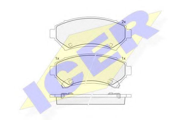 Комплект тормозных колодок, дисковый тормоз  арт. 141182