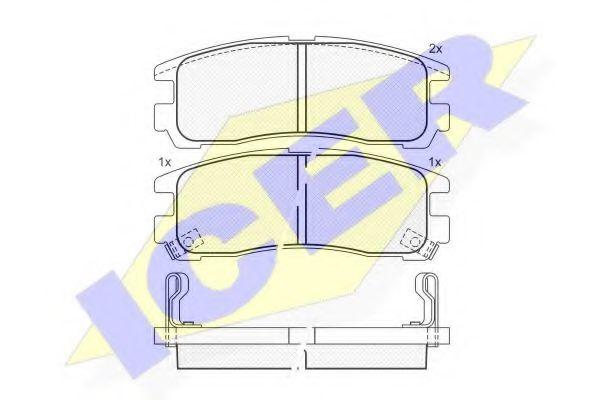 Комплект тормозных колодок, дисковый тормоз  арт. 141192