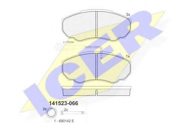 Колодки тормозные (передние) Citroen Jumper/Fiat Ducato/Peugeot Boxer 02- R15 (Brembo)/(с датчиком)  арт. 141523