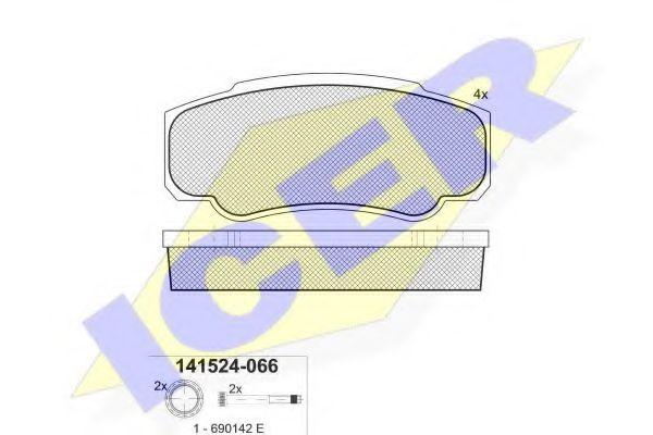 Колодки тормозные  арт. 141524066
