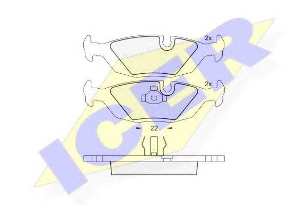Комплект тормозных колодок, дисковый тормоз  арт. 180422