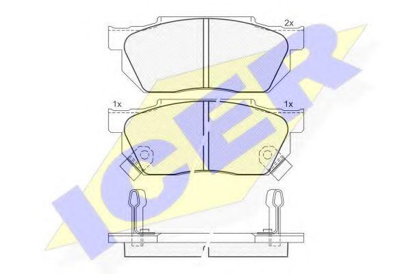 Комплект тормозных колодок, дисковый тормоз  арт. 180494