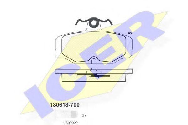 Тормозные колодки дисковые  арт. 180618700