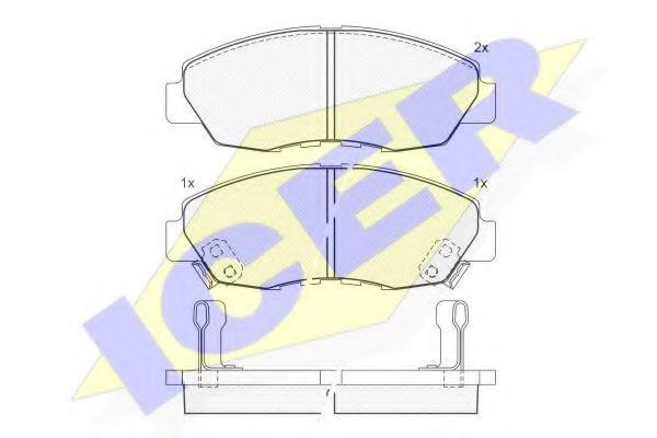 Комплект тормозных колодок, дисковый тормоз  арт. 180797