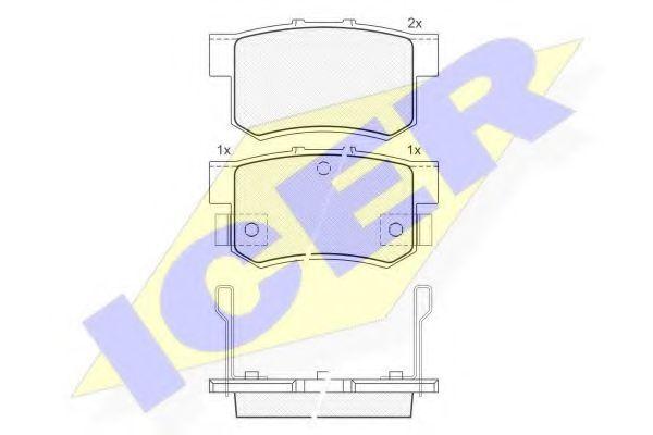 Комплект тормозных колодок, дисковый тормоз  арт. 180798