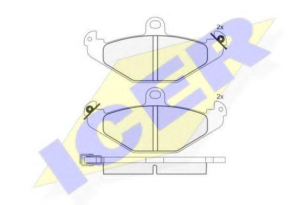 Комплект тормозных колодок, дисковый тормоз  арт. 180874