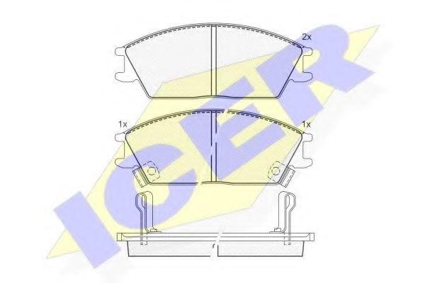 Колодки тормозные (передние) Hyundai Accent/Accent II 1.3/1.6 16V 94- (Akebono)  арт. 180887