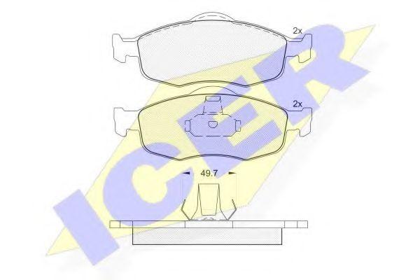 Комплект тормозных колодок, дисковый тормоз  арт. 180916