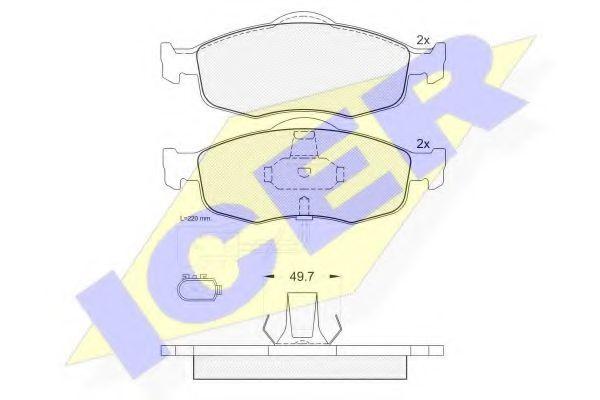 Комплект тормозных колодок, дисковый тормоз  арт. 180917